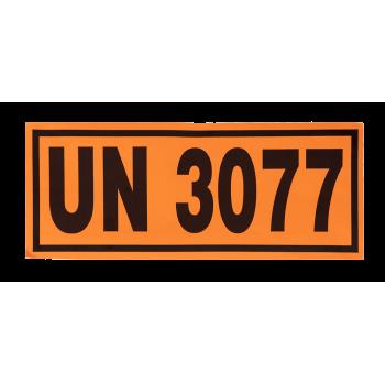 Panel naranja UN3077 12x30