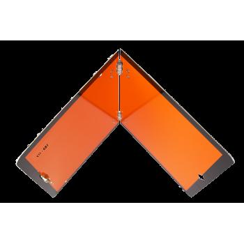 Panel Naranja metálico...