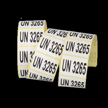 Etiqueta UN con numeración...