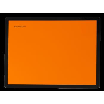 Panel Naranja metálico sin...