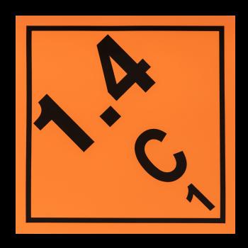 Placa etiqueta Clase 1.4 -...