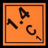 Placa etiqueta Clase 1.4 - Materias y objetos explosivos