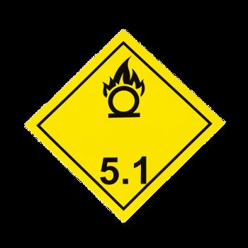 Placa etiqueta Clase 5.1 -...