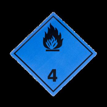 Placa etiqueta Clase 4.3 -...