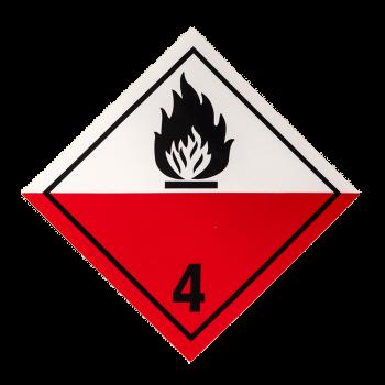 Placa etiqueta Clase 4.2 -...