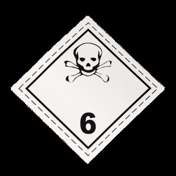 Placa etiqueta Clase 6.1 -...