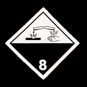 Placa etiqueta Clase 8 -...