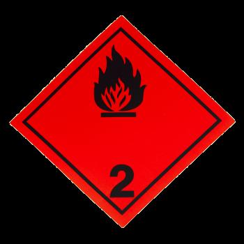 Placa etiqueta Clase 2.1 -...