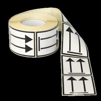 Etiqueta flecha de orientación