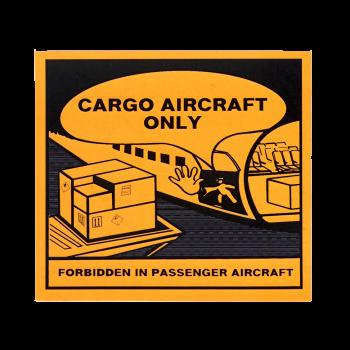 Etiqueta Cargo Aircraft Only