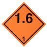 Placa etiqueta Clase 1.6 - Materias y objetos explosivos